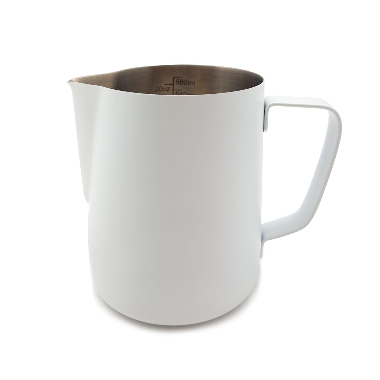 coloured stainless steel milk jug 600ml classic white. Black Bedroom Furniture Sets. Home Design Ideas