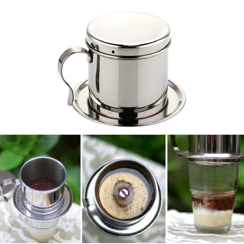 Vietnamese Phin Filter Coffee Maker Stainless Steel 100ml Coffee Stuff